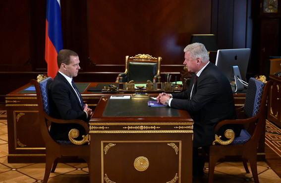 Встреча председателя ФНПР с премьер-министром России